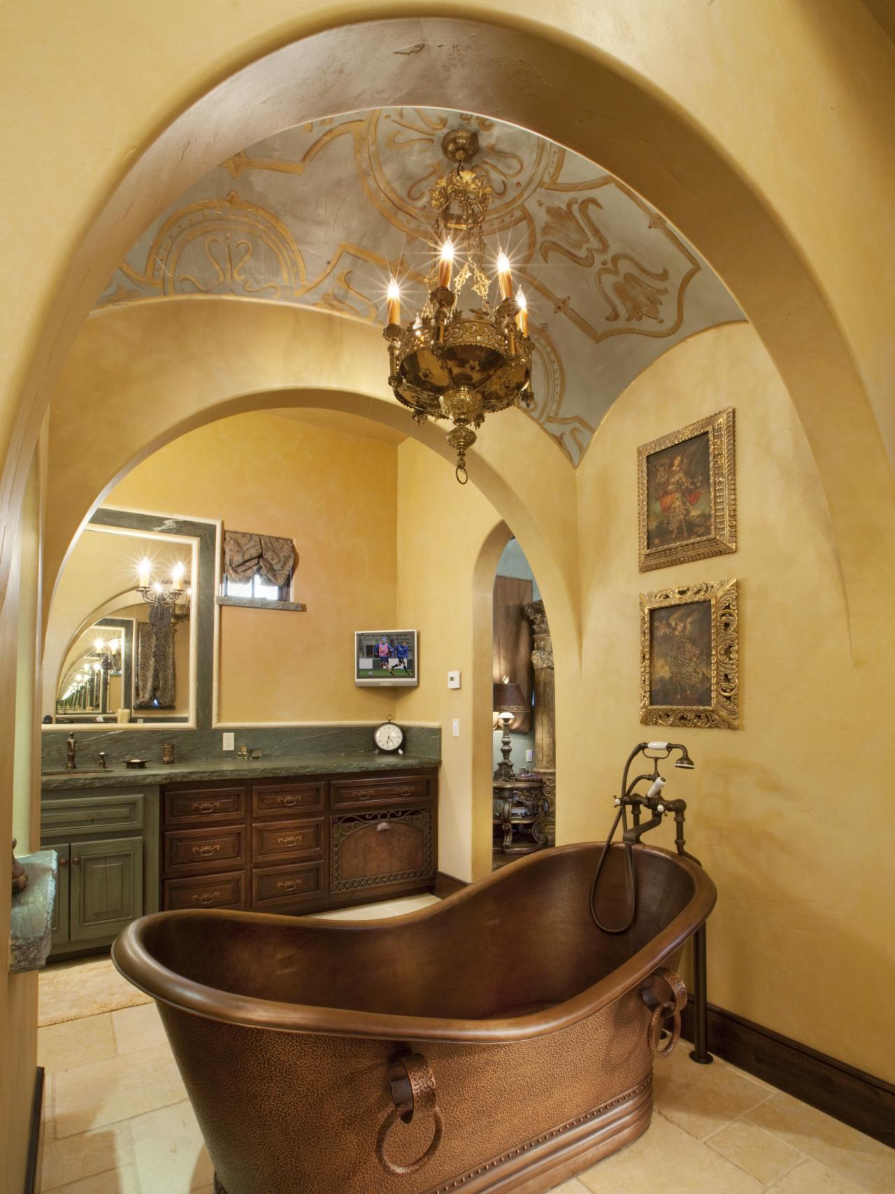 25 Mediterranean Bathroom Design Ideas - Decoration Love
