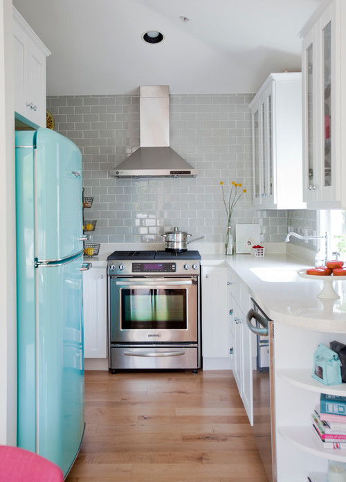 Double Galley Eclectic Kitchen