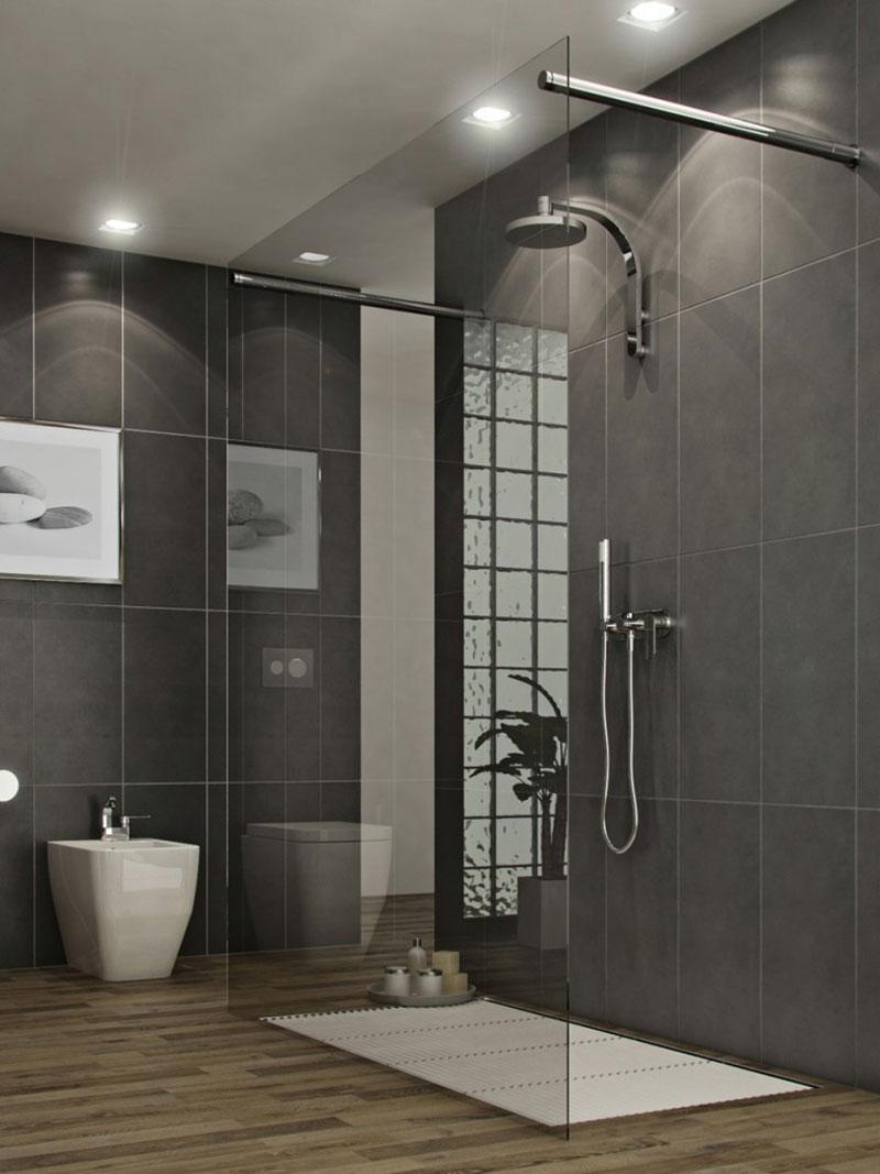 Grey Modern Bathroom Cool Design