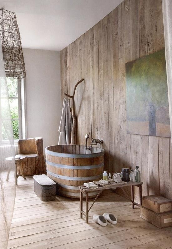 Rustic Wood Bathroom Ideas