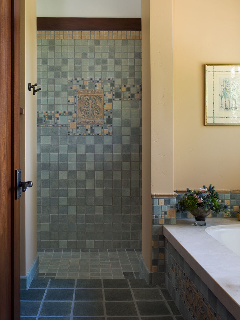 Shannon White Craftsman Bathroom Design