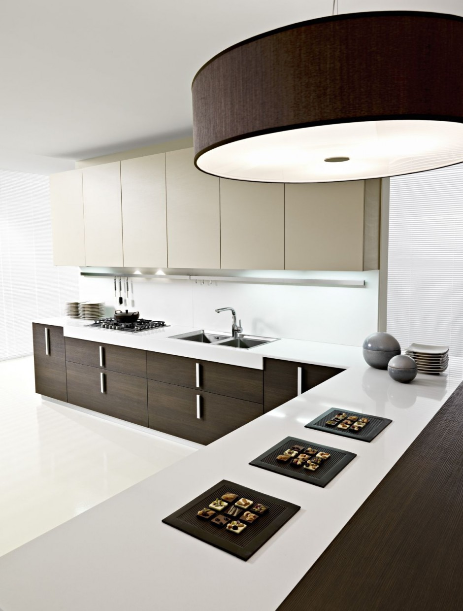 White Modern Kitchen Design..