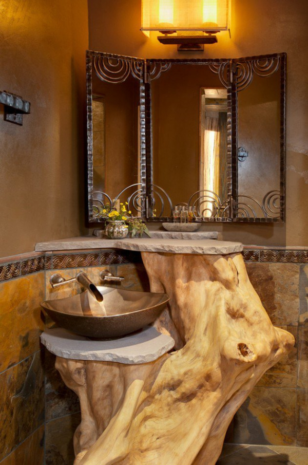 inspired rustic bathroom designs