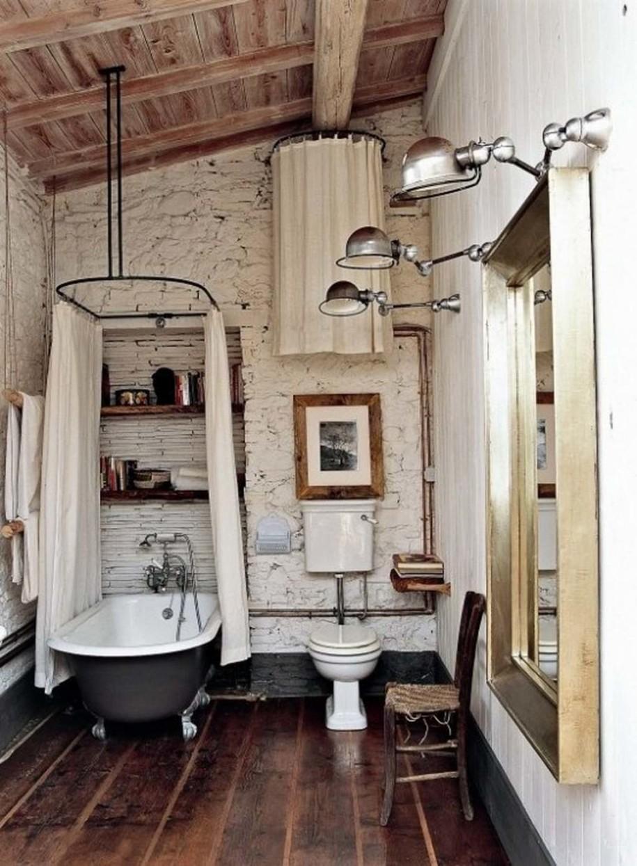 simple rustic bathroom designs