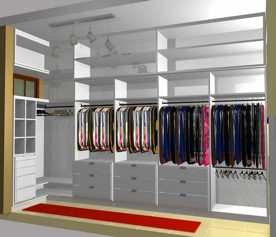 Affordable Industrial Closet Design