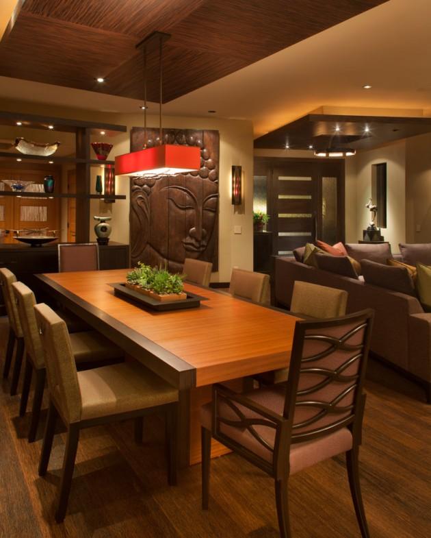 Amazing Asian Style Decor Dining Room