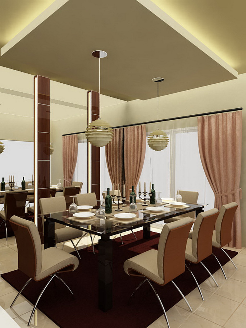 Attractive Contemporary Dining Room Design