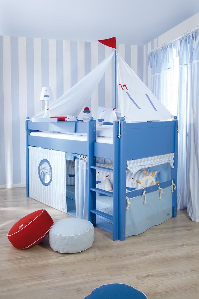 Awesome blue Mediterranean Kids Room Design