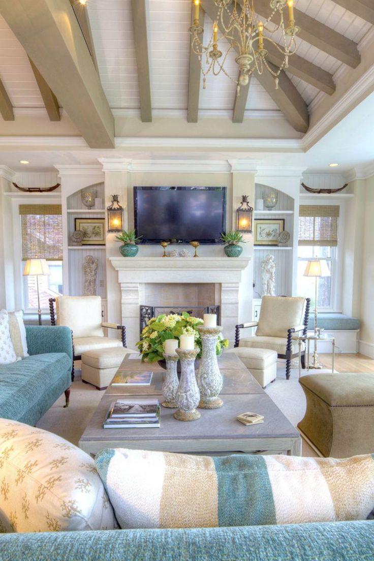 Chic Beach Style Living Room Design