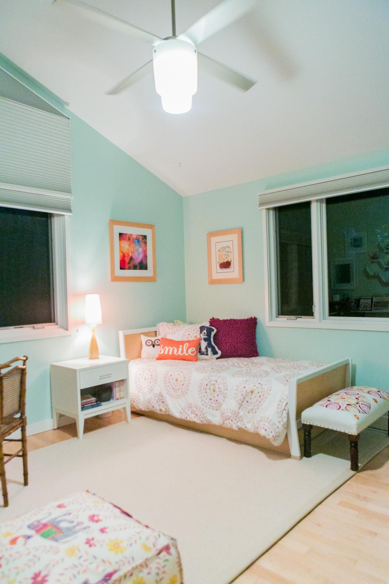 Chic Midcentury Modern Girl's Bedroom