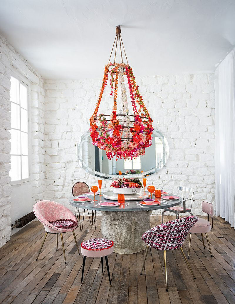 Cool and Creative Eclectic Dining Room Design