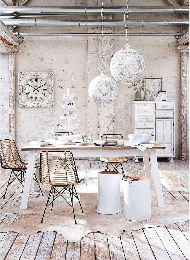Cool and Creative Shabby-Chic Style Home Office Design