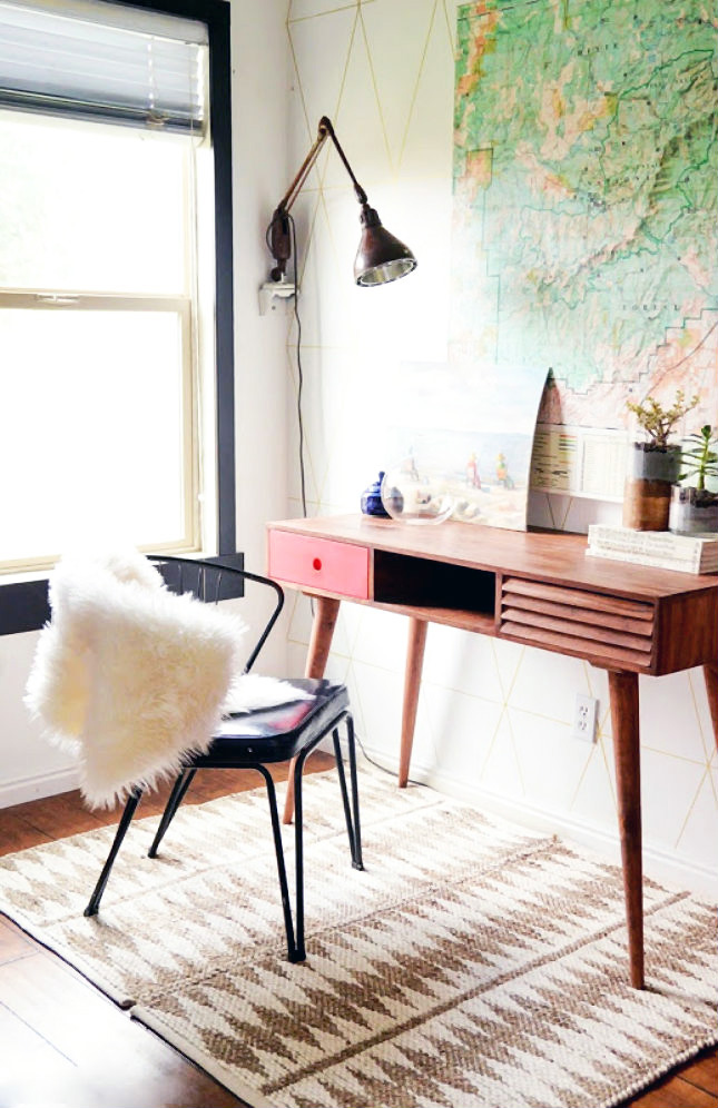 Antique Desk In Living Room