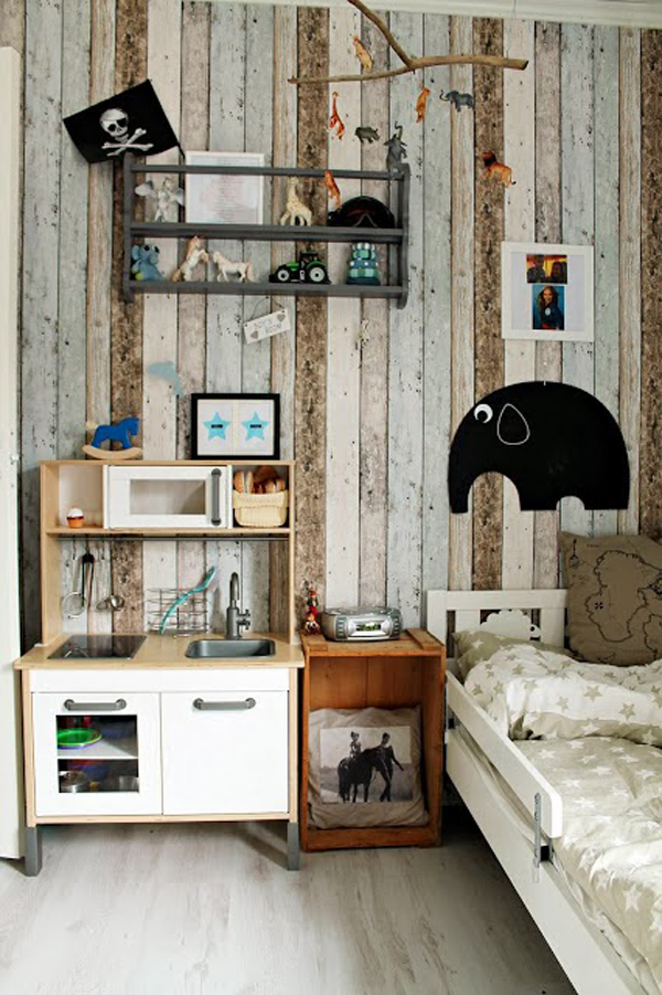 Creative Rustic Kids Room Design
