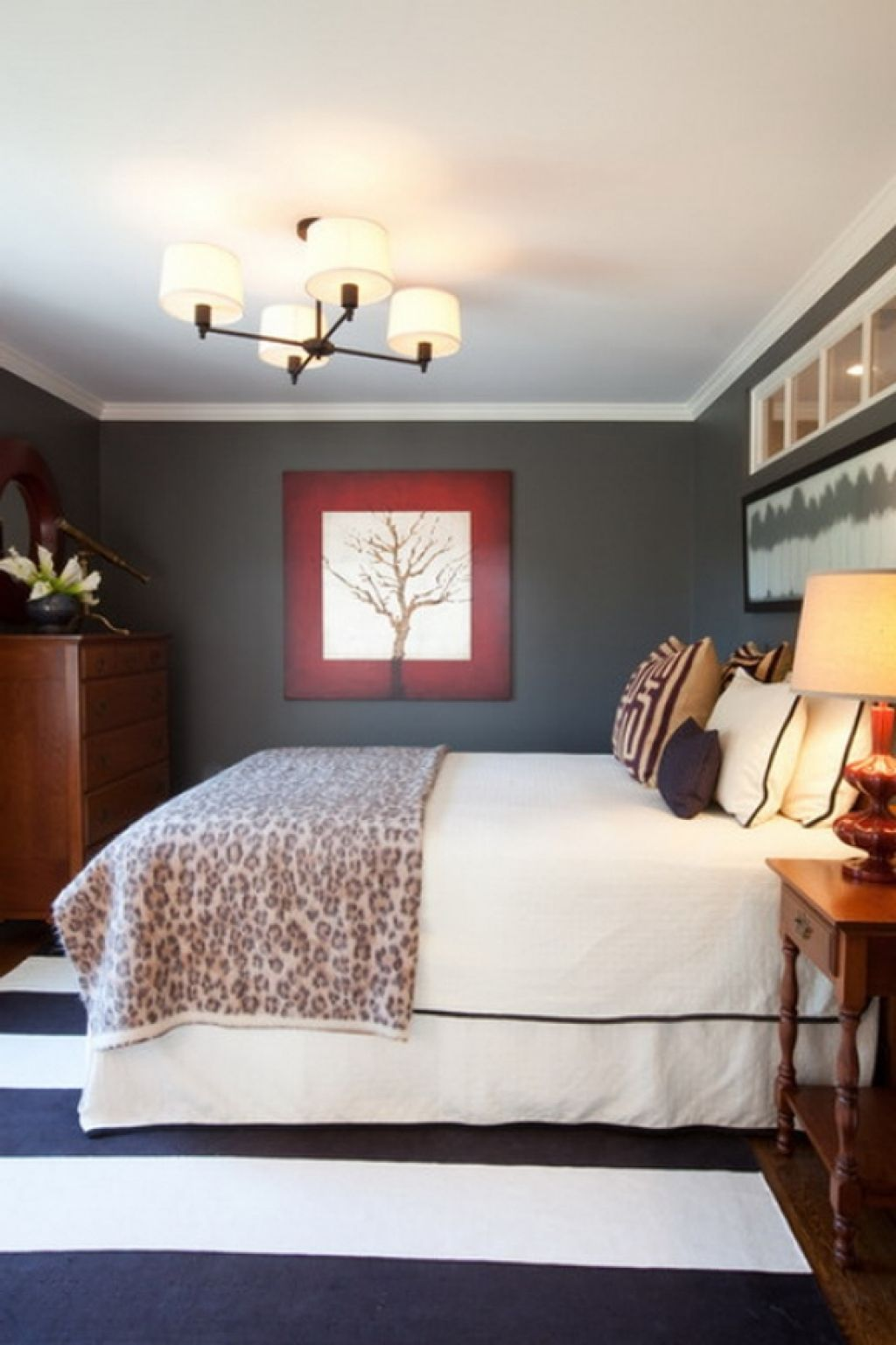 Dark Grey Eclectic Bedroom Design