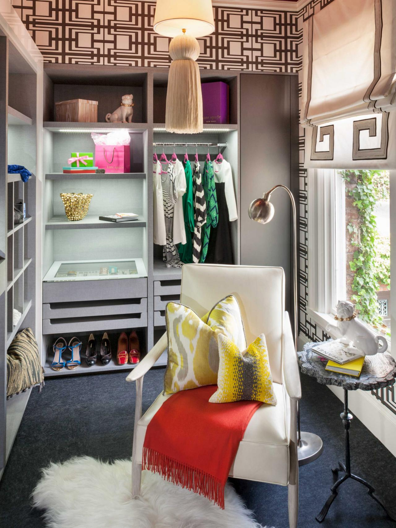 Eclectic Walk-In Closet Design