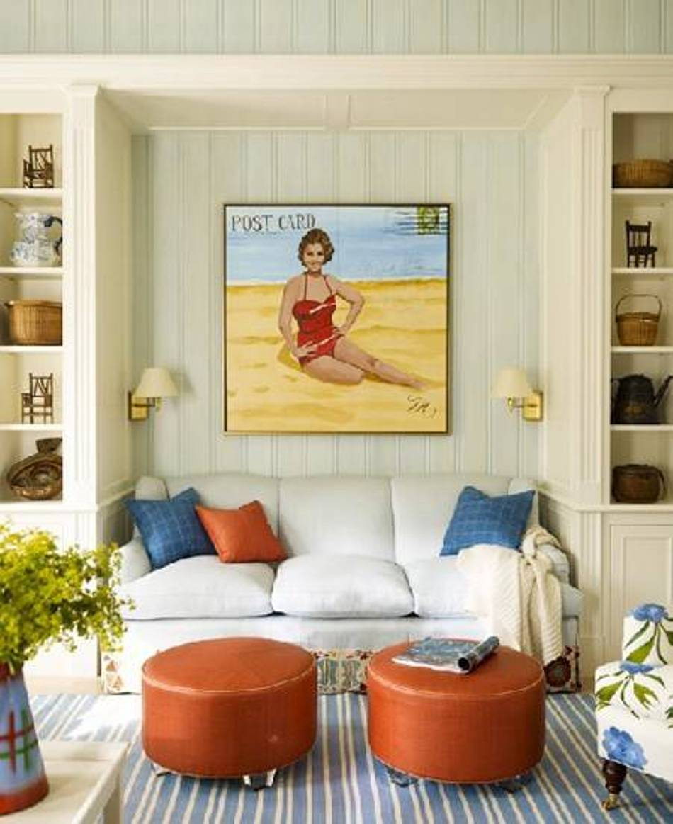 Elegant Beach Style Living Room Set
