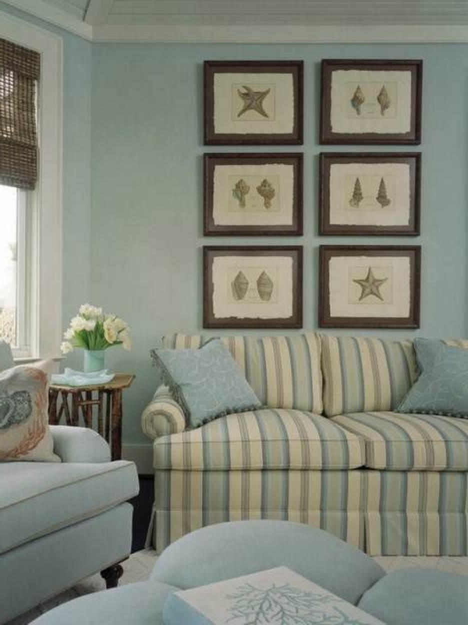 Elegant Beach Themed Style Living Room Design