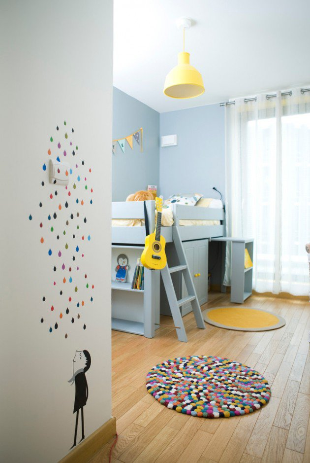 Entertaining Contemporary Kids Room Design