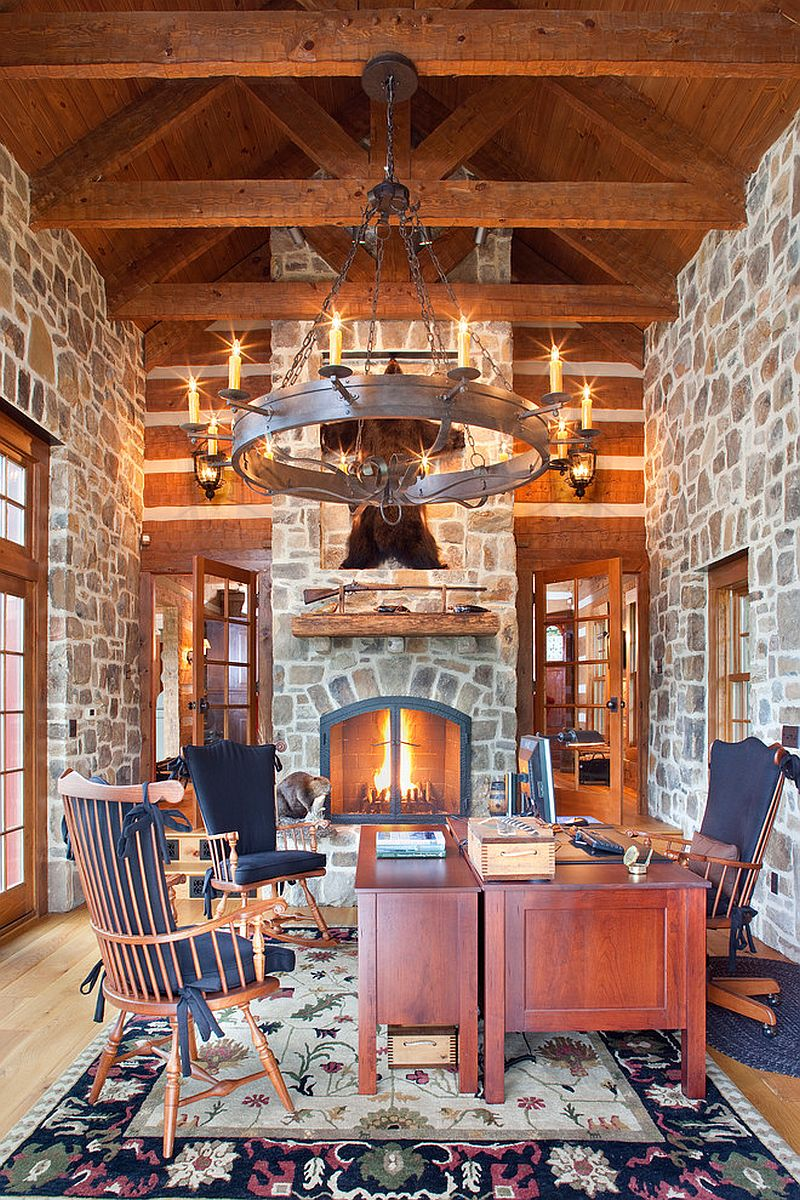 Exquisite Traditional Home Office Design