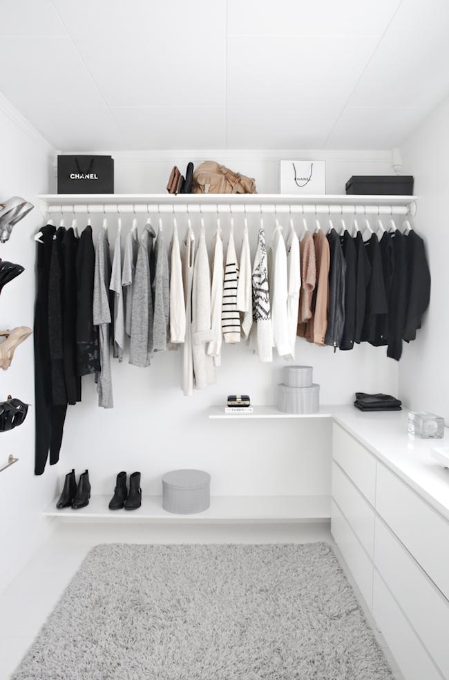 Fashionable Scandinavian Closet Design