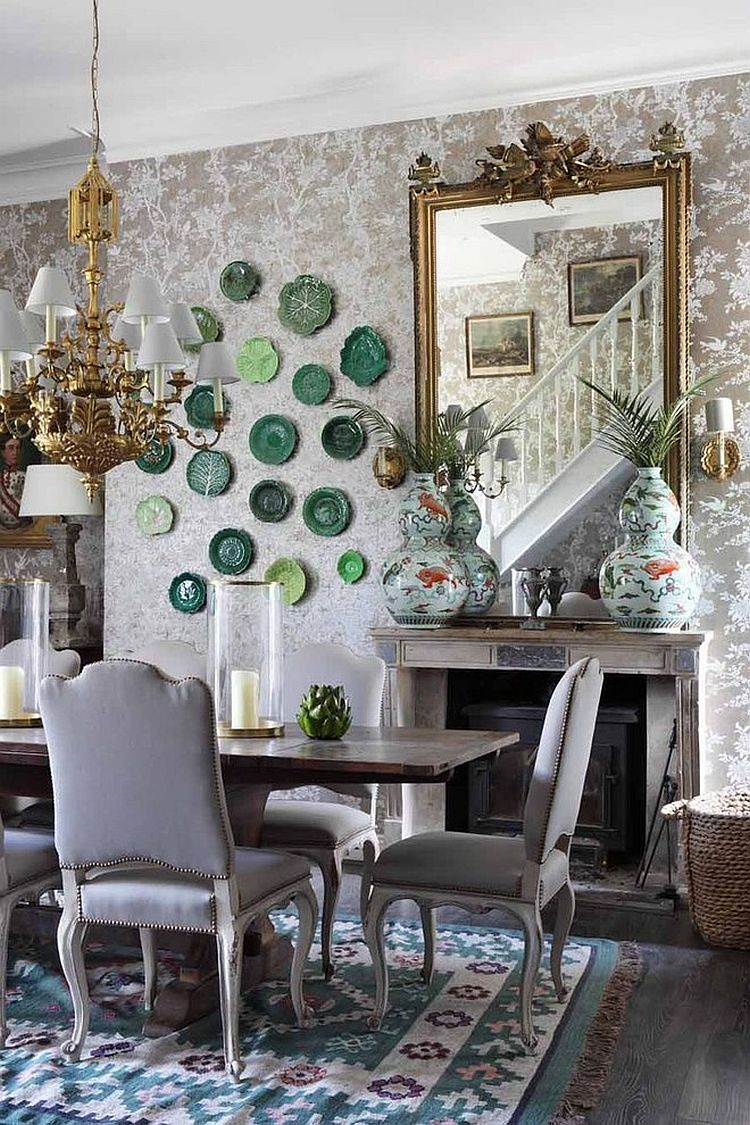 Floral Shabby-Chic Style Dining Room Design