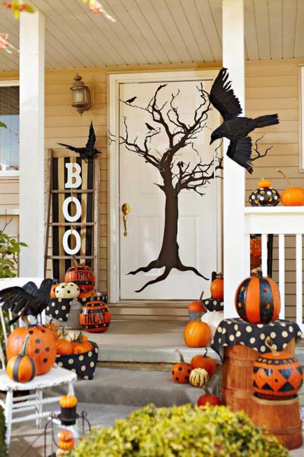 Front Porch Halloween Decorations Ideas