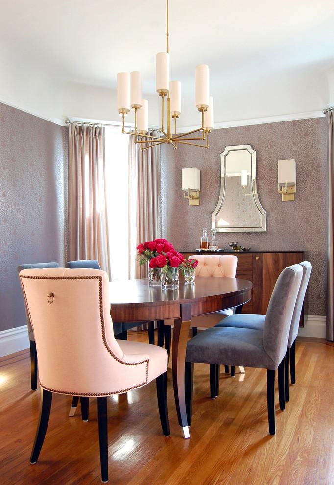 Impressive Tufted Transitional Dining Room Design