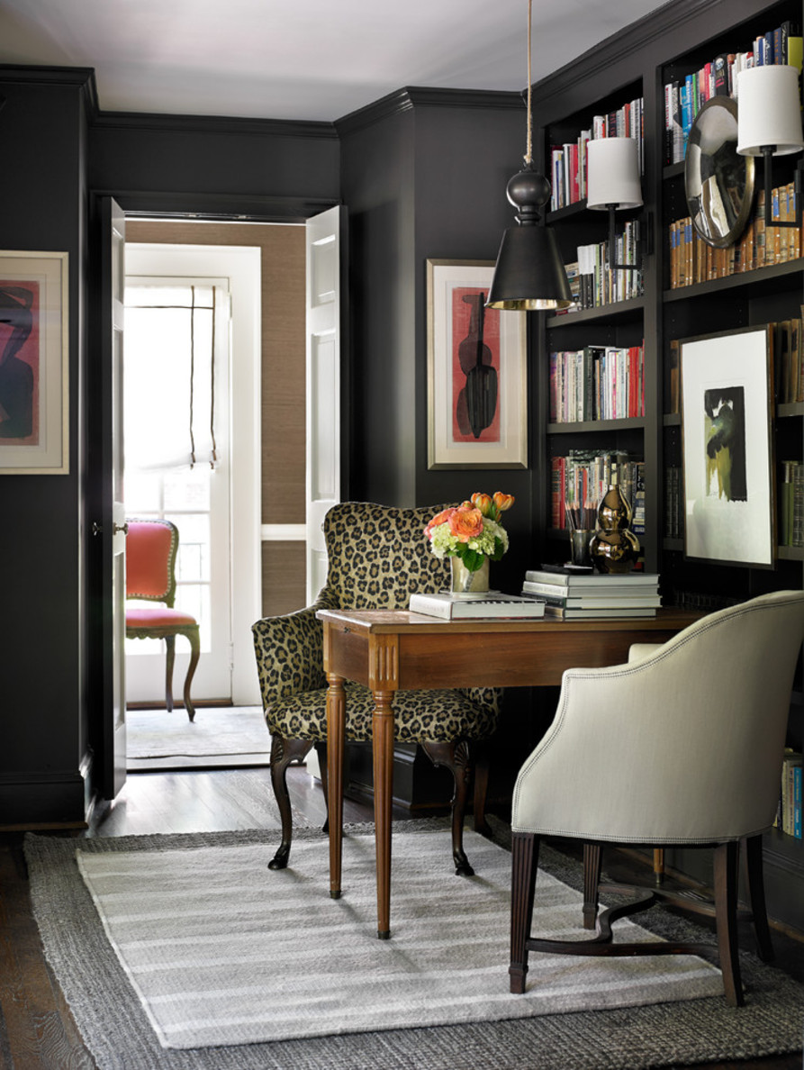 Interesting Traditional Home Office Design