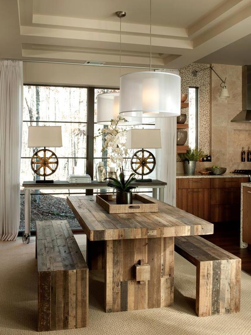 25 Rustic Dining Room Design Ideas - Decoration Love