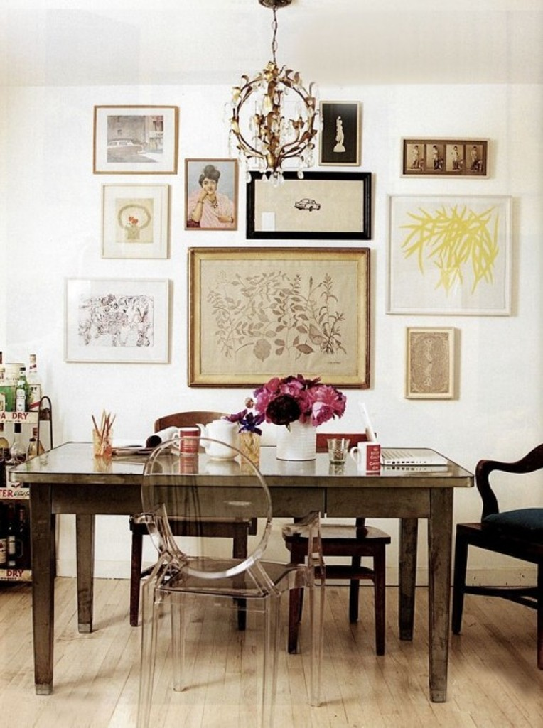 Light Eclectic Dining Room Design