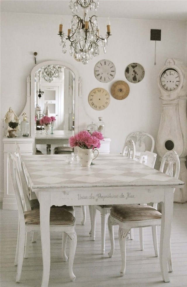 Marvelous Shabby-Chic Style Dining Room Design