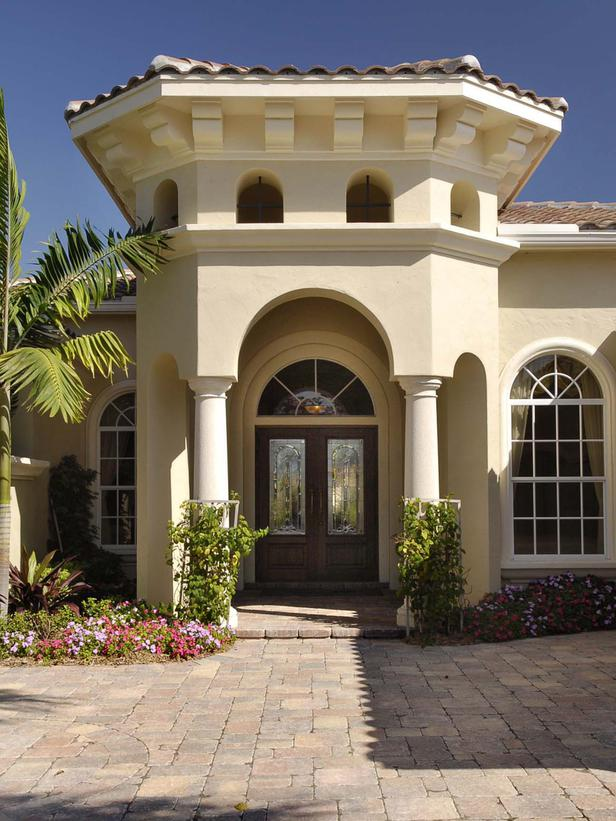 Mediterranean Exterior Entry Ways