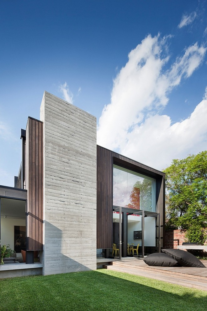 Modern Exterior Design Concrete Wall Ideas
