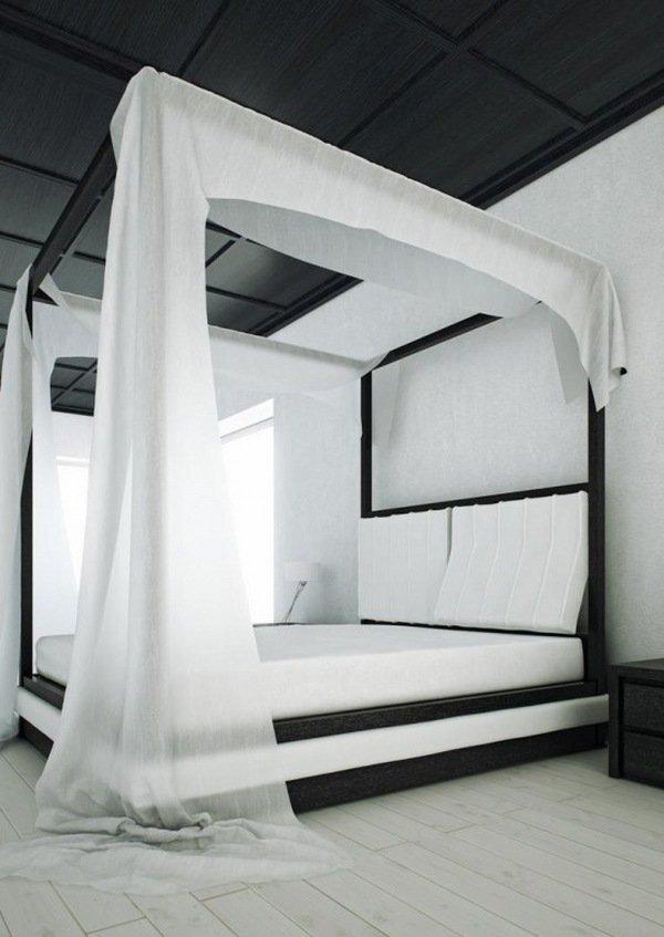 Modern black and white Bedroom Design