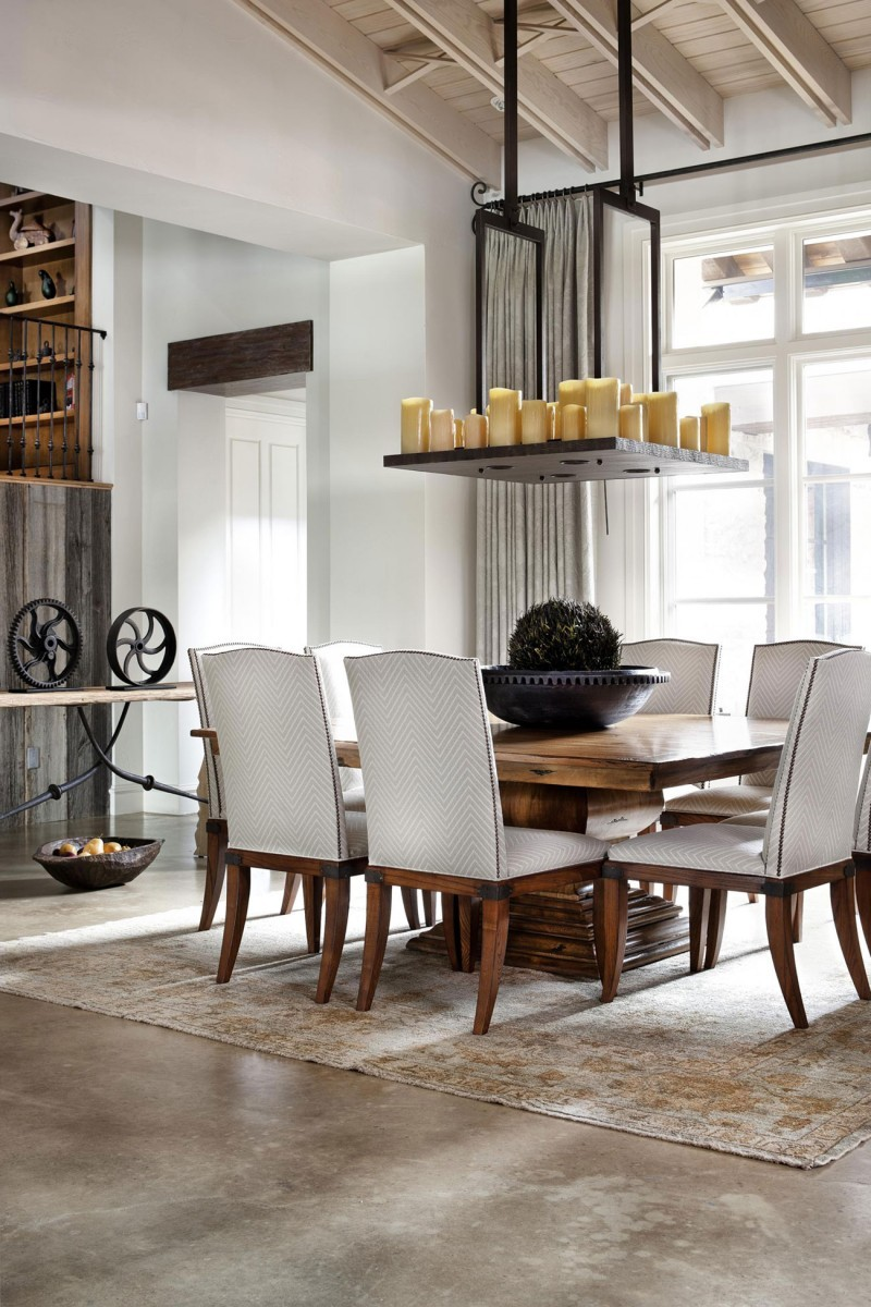 Old World Modern Dining Room Design