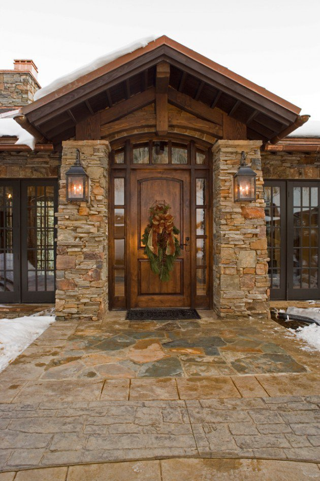 Rustic Front Door Entrance Exterior Design Ideas