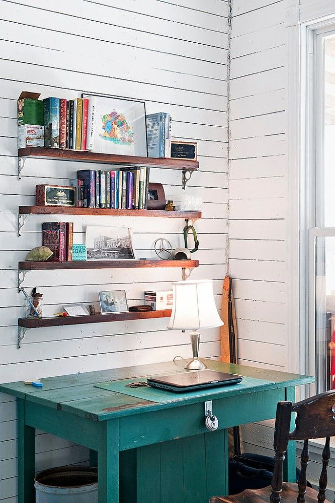 Rustic Southwestern Home Office Design