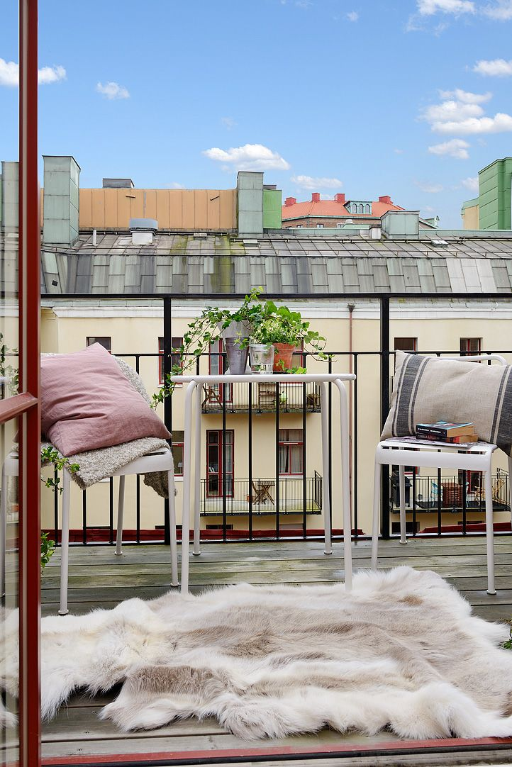 Scandinavian Apartment Terrace Exterior Design