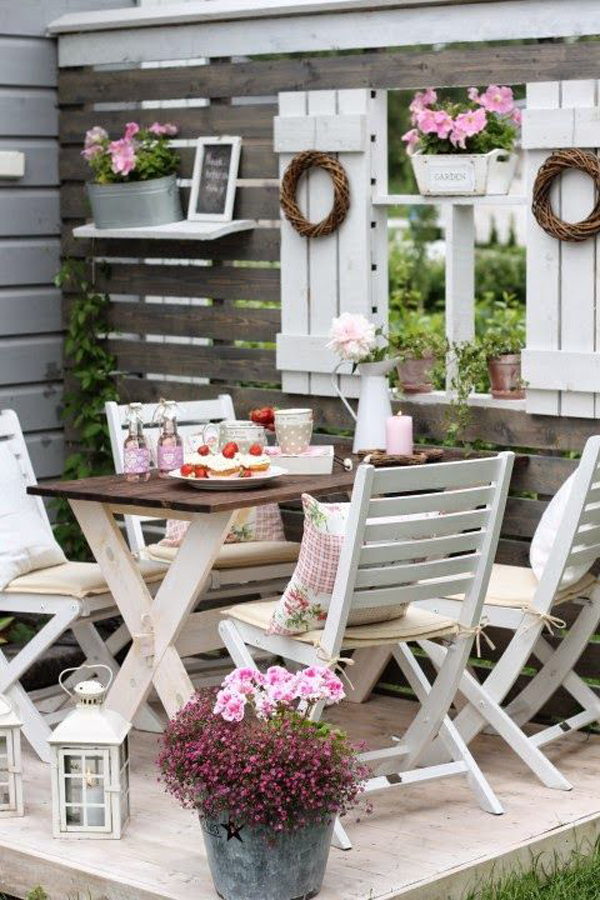 25 Shabby-Chic Style Outdoor Design Ideas - Decoration Love