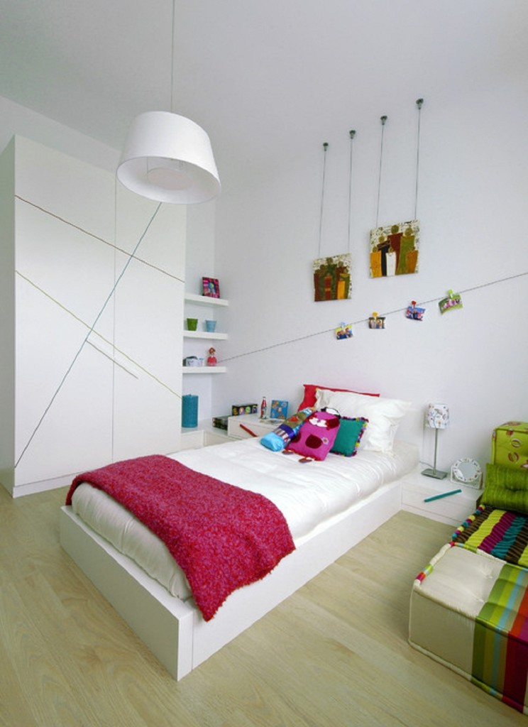 Small Custom Contemporary Kids Room Design