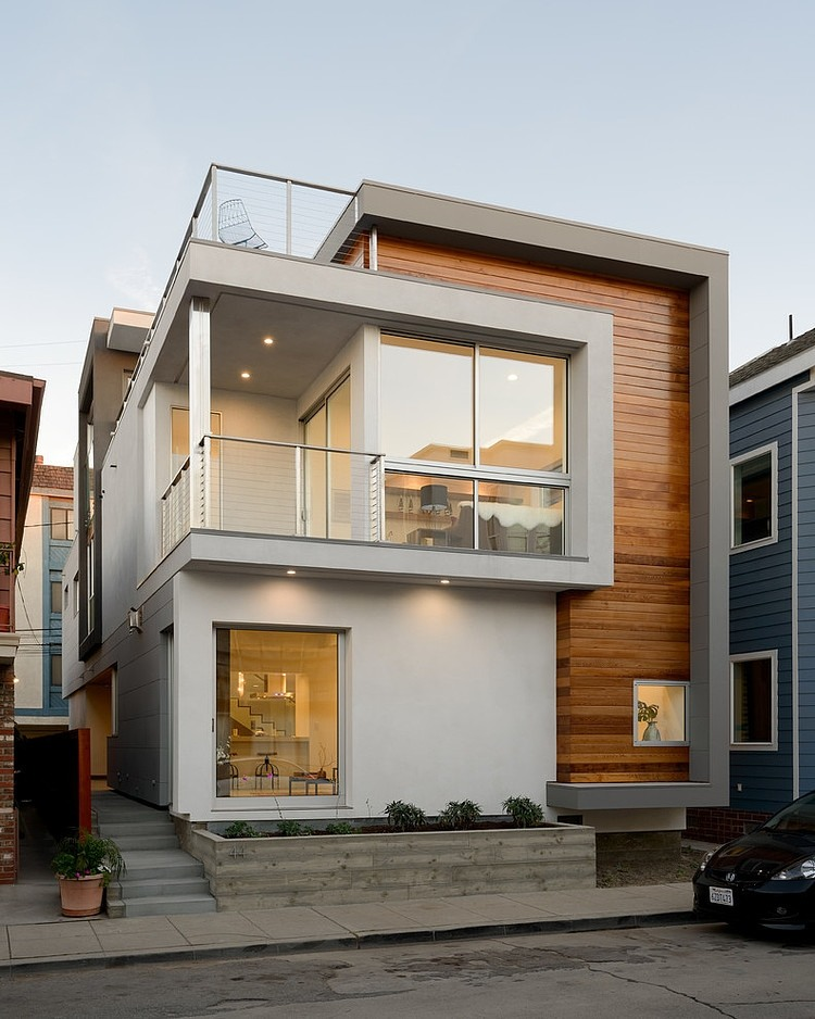 Small Shabby-Chic Style Exterior Design