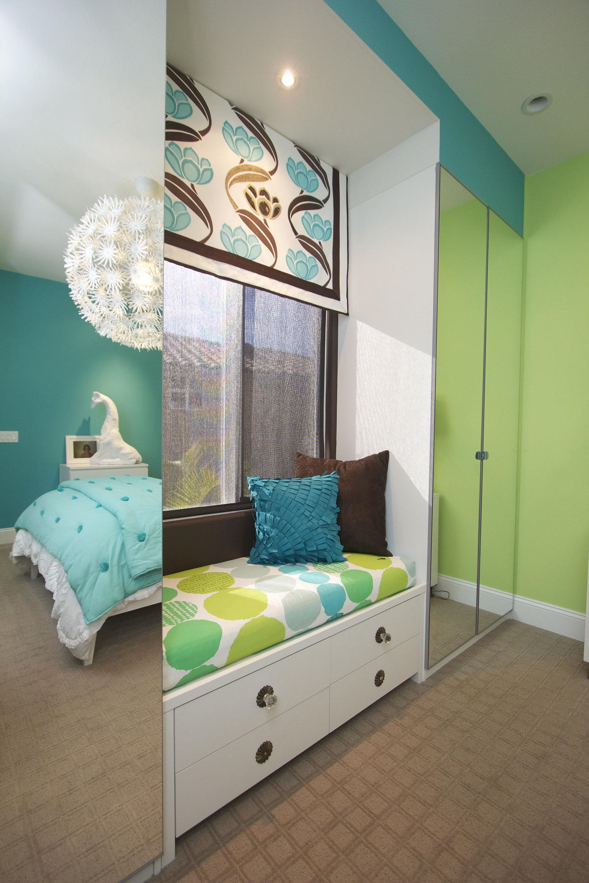 Stylish Transitional Girls Room