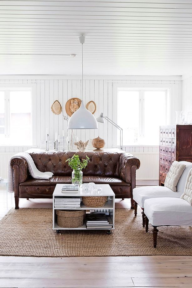 Swedish Farmhouse Living Room Design