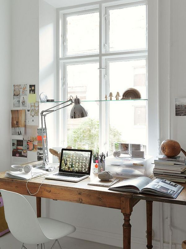 Traditional Industrial Home Office Design
