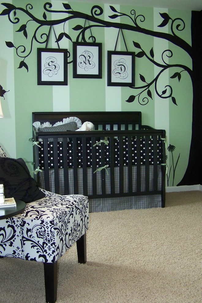 Trees Painted Southwestern Kids Room Design