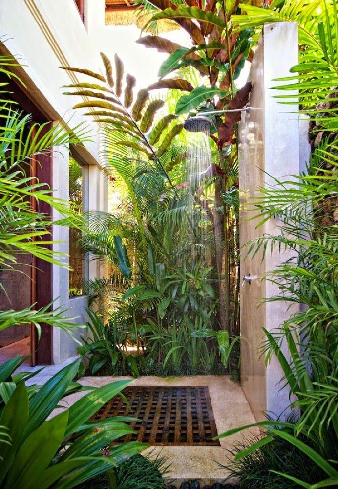 Tropical Outdoor Shower Design