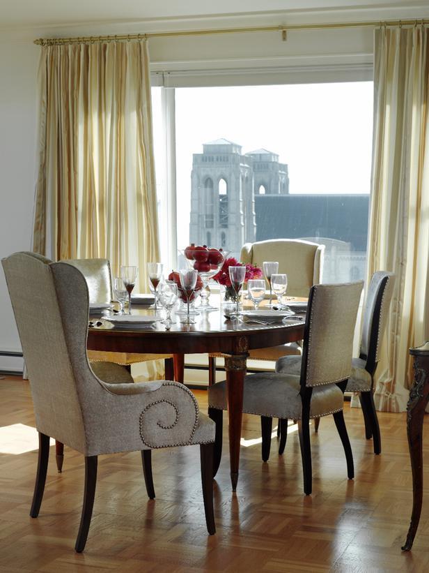 Vintage Transitional Dining Room Design