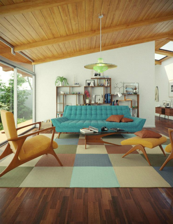 25 midcentury living room design ideas decoration love for Mid century furniture online