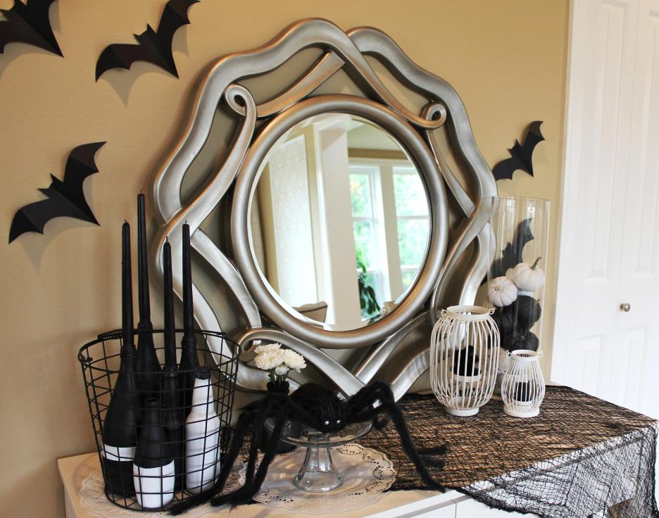 Black & White Handmade Halloween Decorations